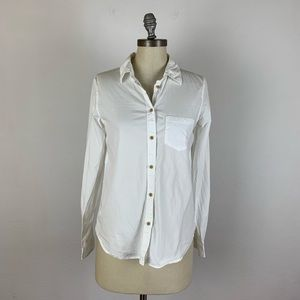 Madewell White Button Down Shirt
